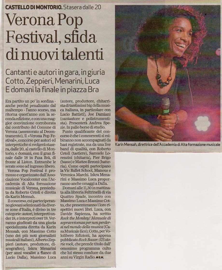 Verona Pop Festival, Sfida dei nuovi talenti
