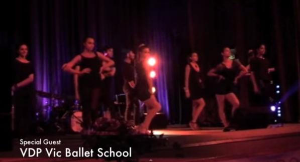 corpo di ballo della Vic Ballet School di Hans Vancole